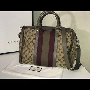 Authentic Gucci Boston Bandouliere crossbody tote